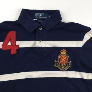 Polo Ralph Lauren Rugby Striped Polo Crest # 4 Sm